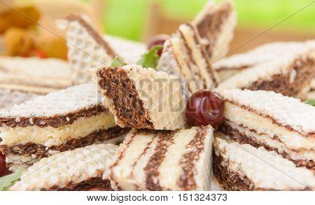 Chocolate Cherry Wafer Cake