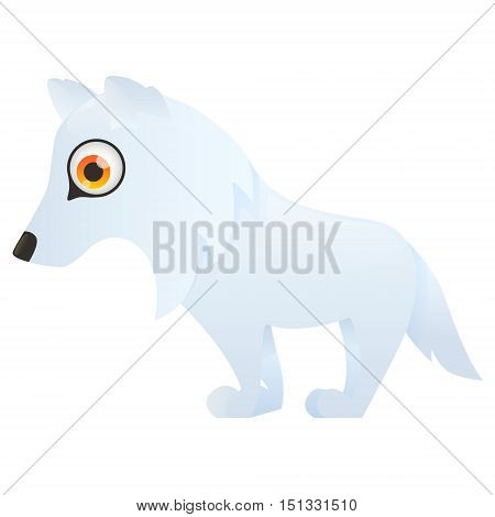 Arctic Polar wolf isolated on white background. Vector illustration