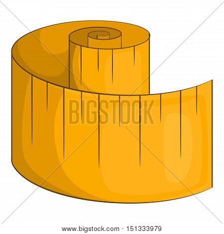 Measurement tape icon. Cartoon illustration of measurement tape vector icon for web