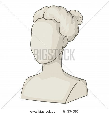 Sculpture head of woman icon. Cartoon illustration of sculpture head of woman vector icon for web