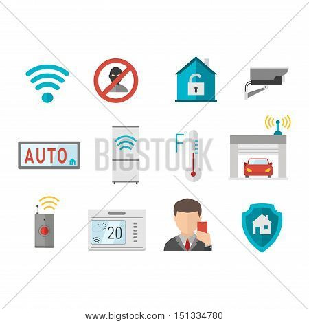 Remote home control system Smart House vector illustration. Smart House remote control. Smart House icons set. Smart House vector icons abstract technology vector. Smart House illustration icons. Smart House symbols