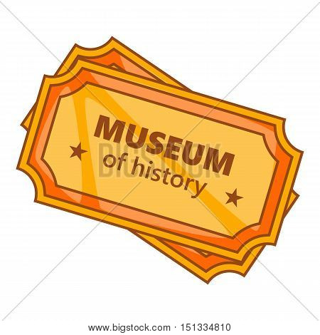 Tickets to the Museum of History icon. Cartoon illustration of museum tickets vector icon for web