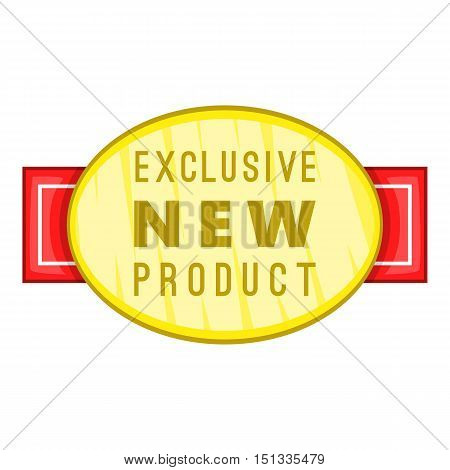 New exclusive product label icon. Cartoon illustration of new exclusive product label vector icon for web