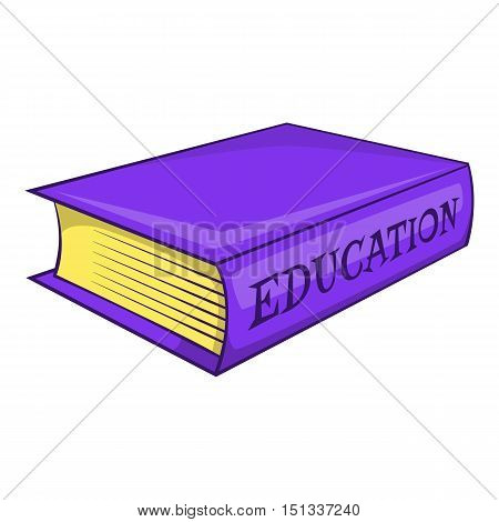 Education book icon. Cartoon illustration of education book vector icon for web