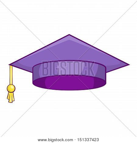 Graduation cap icon. Cartoon illustration of graduation cap vector icon for web