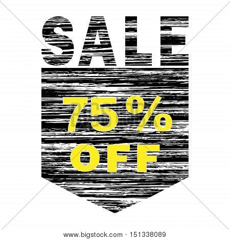 Black And Yellow Grunge icon SALE 75% Off