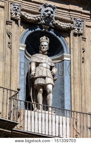 Statue Of The Spanish King Of Sicily Philip Ii