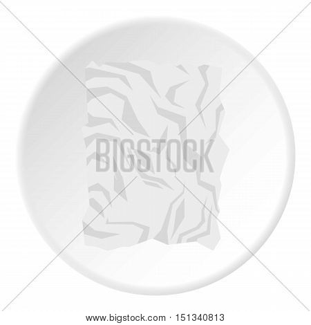 Crumpled paper icon. Flat illustration of crumpled paper vector icon for web design