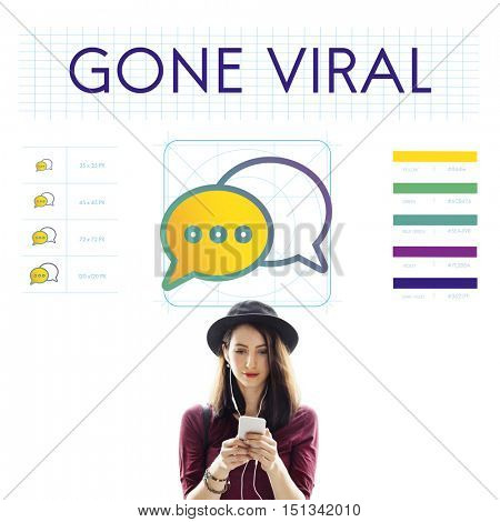 Gone Viral Trends Interact Connection Concept