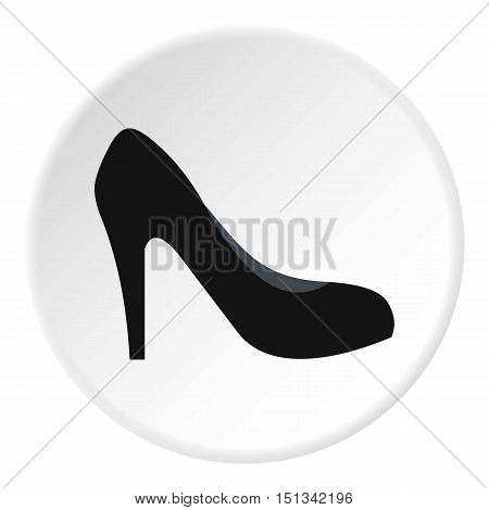 High heel shoe icon. Flat illustration of shoe vector icon for web design