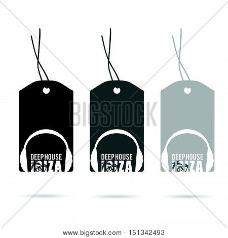 Tag With Deep House Ibiza Headphone Illustration