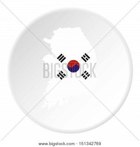 South Korea map icon. Flat illustration of Korea map vector icon for web design