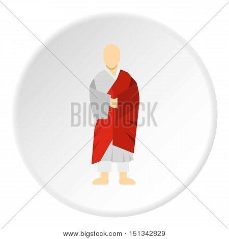 Korean monk icon. Flat illustration of monk vector icon for web design