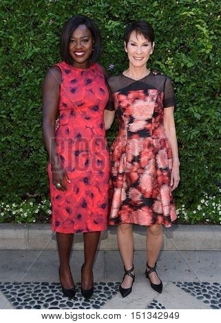 LOS ANGELES - SEP 25:  Viola Davis and Cheryl Saban arrives to the The Rape Foundation Annual Brunch on September 25, 2016 in Hollywood, CA