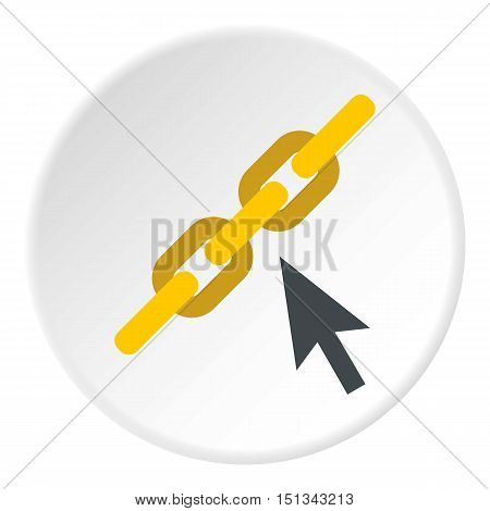 Chain icon. Flat illustration of chain vector icon for web