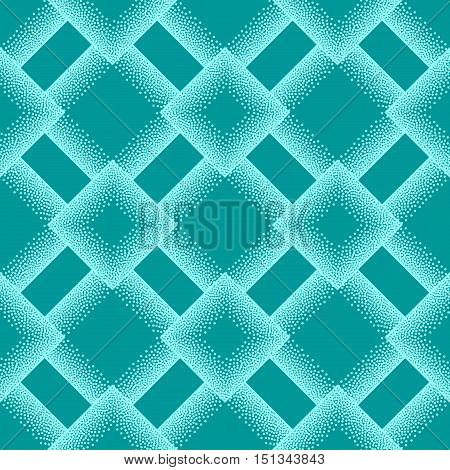 Abstract seamless geometric pattern in pointillism style. Vector illustration.
