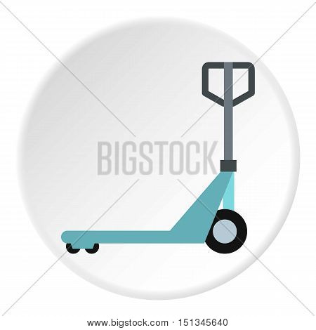 Hand truck icon. Flat illustration of hand truck vector icon for web