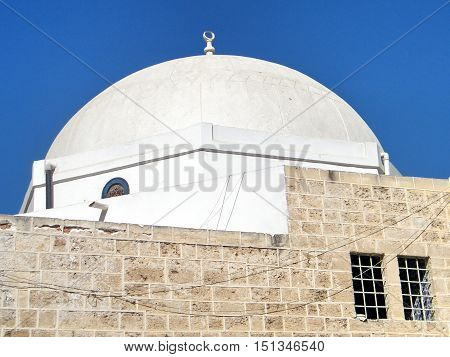 The dome of Mahmoudiya Mosque in old city Jaffa Israel October 11 2010
