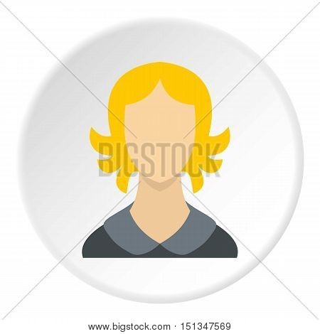 Woman with short hair avatar icon. Flat illustration of woman with short hair avatar vector icon for web