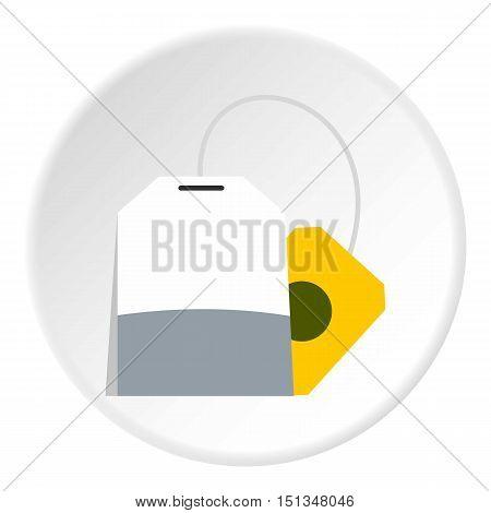 Tea bag icon. Flat illustration of tea bag vector icon for web