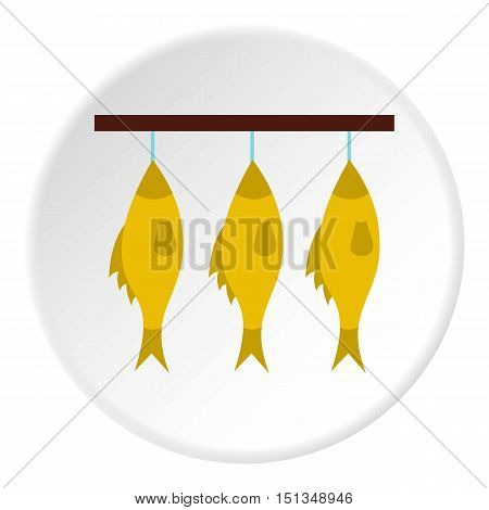 Smoked fish icon. Flat illustration of smoked fish vector icon for web