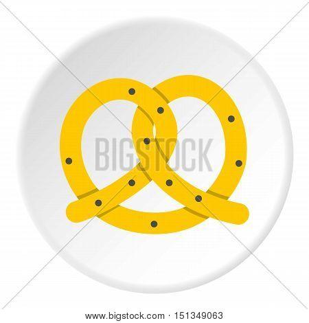 Pretzels icon. Flat illustration of pretzels vector icon for web