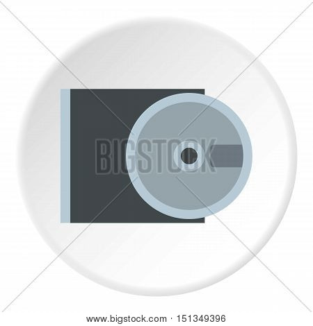 CD rom and disk icon. Flat illustration of CD rom and disk vector icon for web