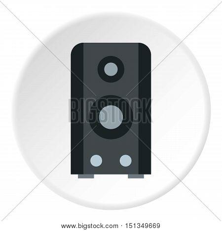 Music speaker icon. Flat illustration of music speaker vector icon for web