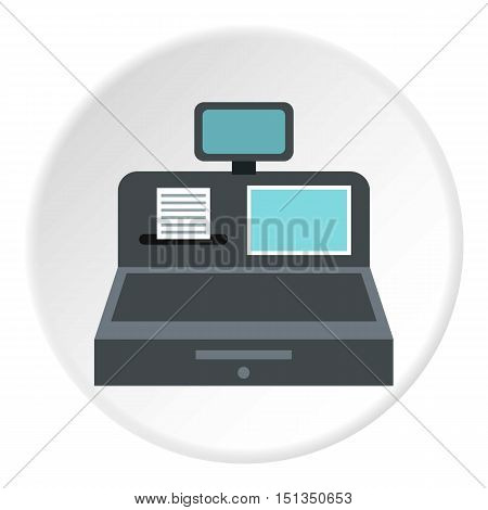 Cash register icon. Flat illustration of cash register vector icon for web