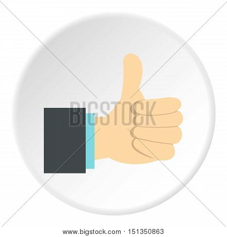 Gesture approval icon. Flat illustration of gesture approval vector icon for web