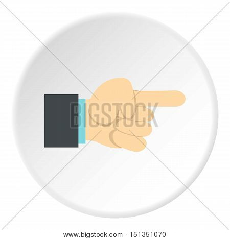 Gesture with index finger icon. Flat illustration of gesture with index finger vector icon for web