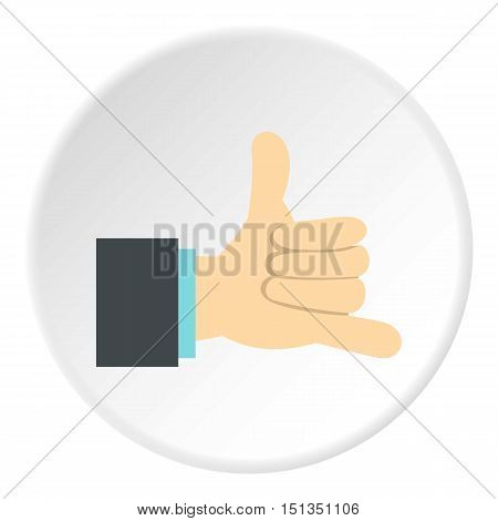 Gesture surfing icon. Flat illustration of gesture surfing vector icon for web