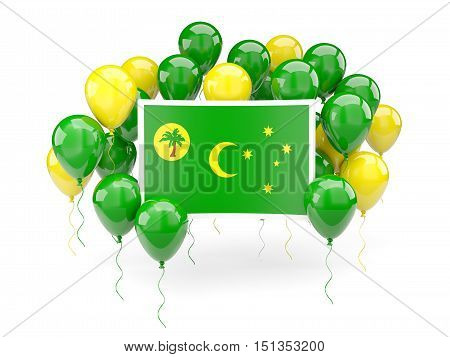 Flag Of Cocos Islands With Balloons
