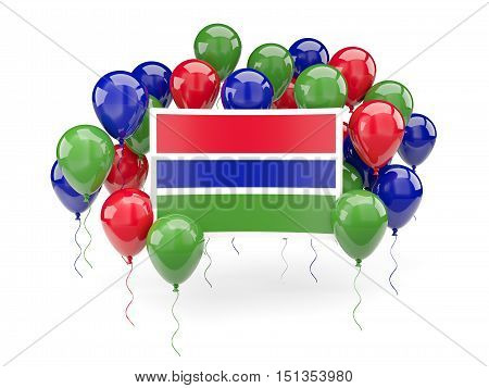Flag Of Gambia With Balloons