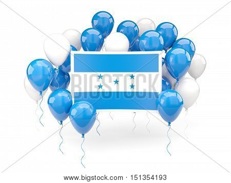 Flag Of Honduras With Balloons
