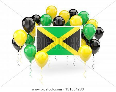 Flag Of Jamaica With Balloons