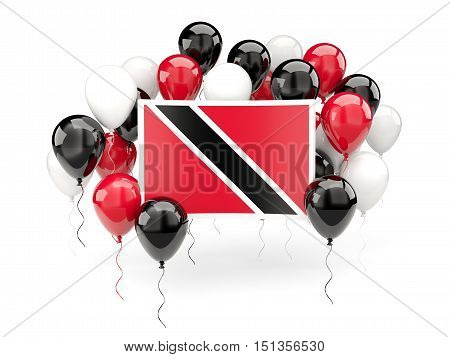 Flag Of Trinidad And Tobago With Balloons