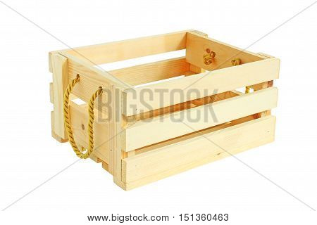 Isometric View Wooden Crate isolated on white background
