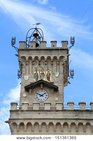 Clock Tower Of The Main Building In Main Square