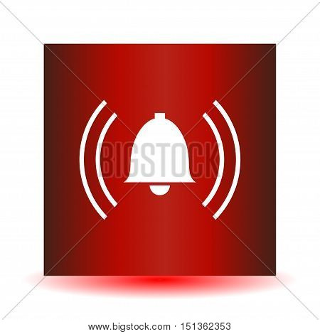 Red Alarm icon on a white background. Vector illustration.