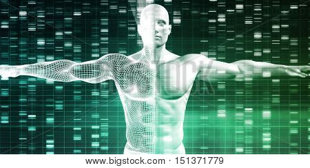 Science Technology Data as a Abstract Art 3d Illustration Render