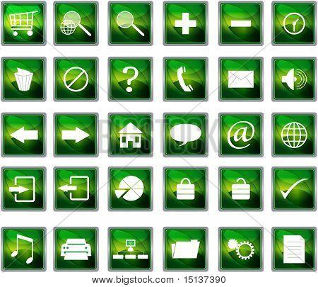 Green Web Navigation Icons
