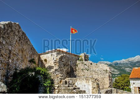 citadel in the old town of Budva in Montenegro