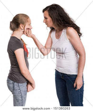 Mother Shouting At Her Teenage Daughter