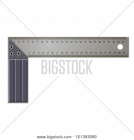 The Metal Angle On A White Background