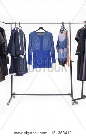 female dress with,coat isolated on hanging