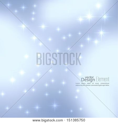 Abstract blurred vector subtle background with  glare sparkle stars. For decorations for Merry Christmas, New Year, festivals, birthday, xmas, glamour holiday, illuminated, celebration