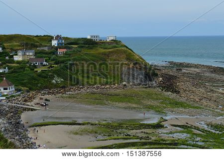 View from a trail at Nord France coastline