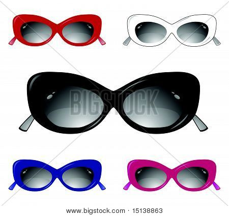 Collection of glamour sun glasses
