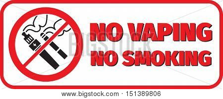 no vaping no smoking placard not to smoke